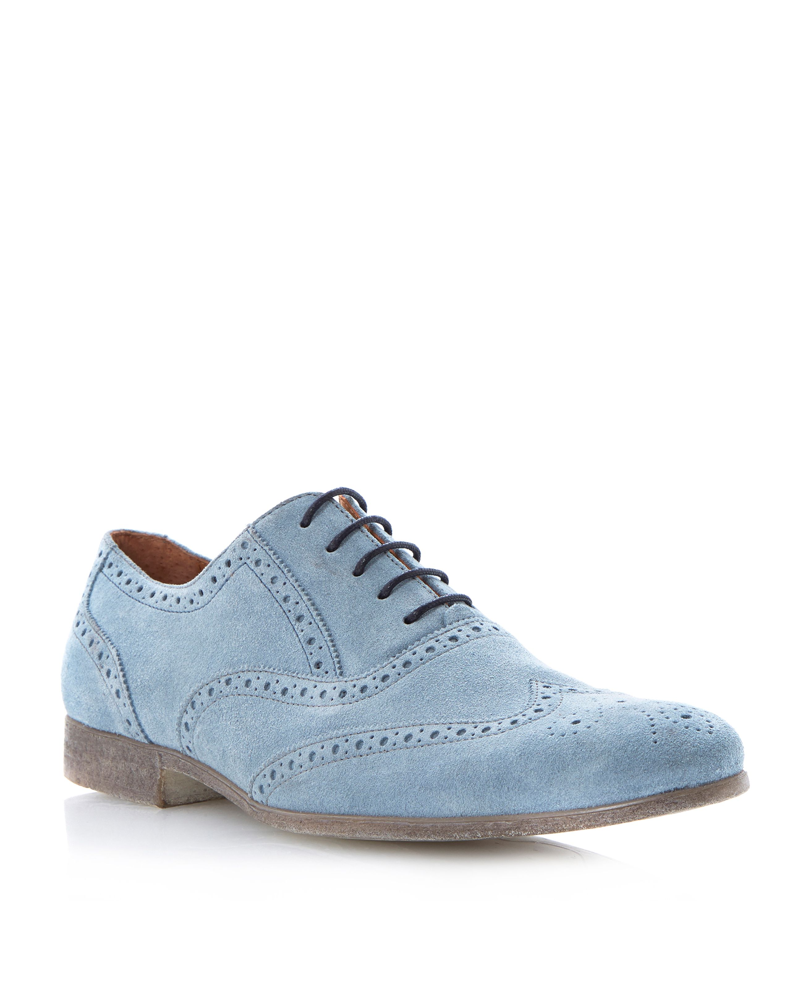 Rayman suede wingtip oxford lace up brogues