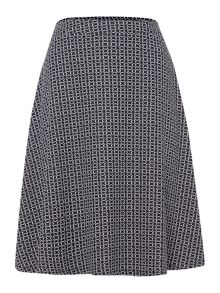 Tile print workwear skirt