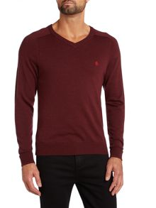 V neck esquire merino jumper
