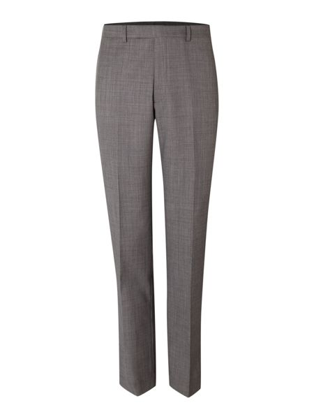 New & Lingwood Findlay textured flat front trousers