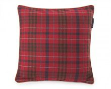 Checked Wool Sham 50x50 in Red