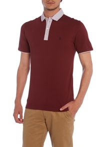 Slim fit grava contrast collar polo shirt