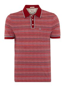 Slim Fit Machu Jacquard Striped Earl Polo Shirt