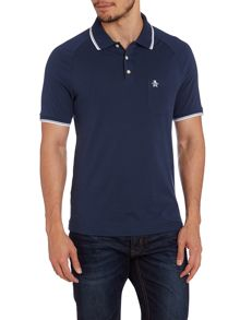 Slim fit 55 tipped collar polo shirt