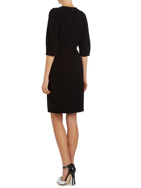 Tara Jarmon Structured long sleeved dress with cut-out detail