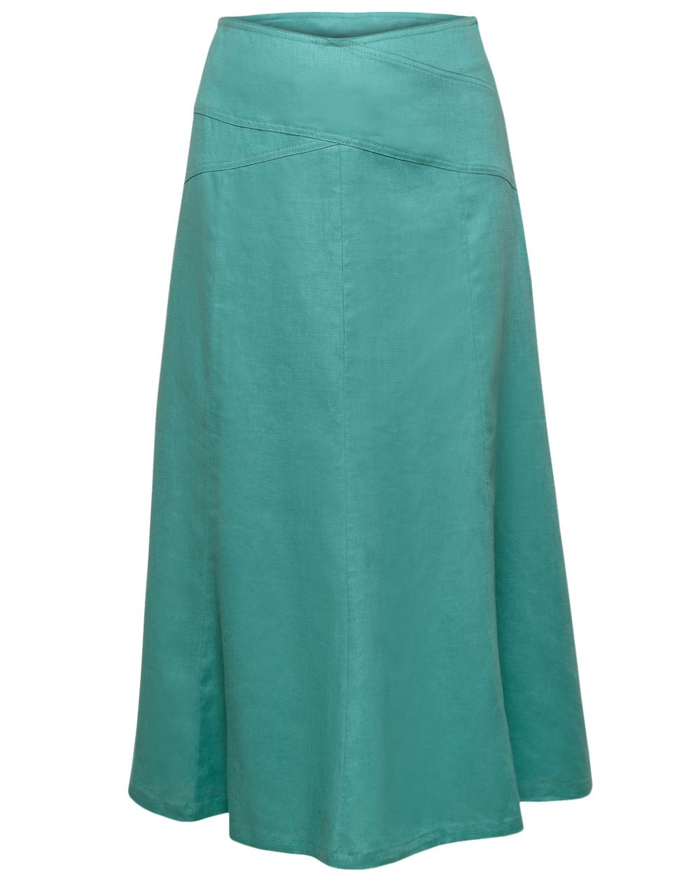 Cross Panel Linen Skirt