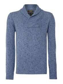 Corsivo Mattia shawl neck knitted jumper