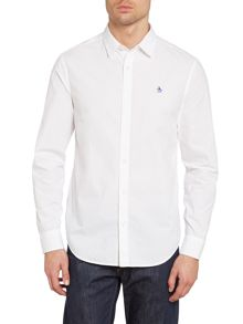 Long sleeve break poplin shirt