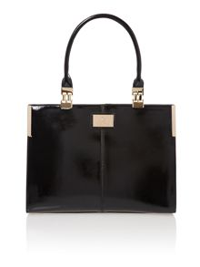 Black saffiano work bag