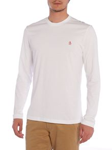 Original Penguin Longmire embroidered logo long sleeve Tshirt