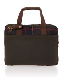 Tartan slim laptop bag