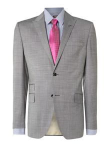 Nazzaro textured peak lapel suit jacket