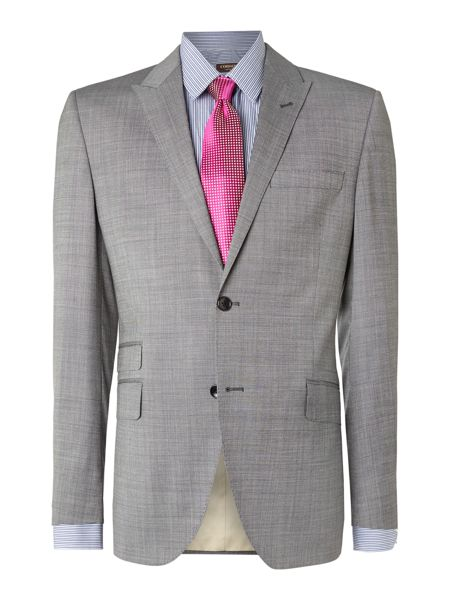 Corsivo Nazzaro textured peak lapel suit jacket