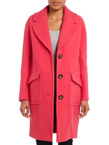 Wool coat with oversized pockets