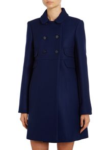 Double breasted wool coat with pockets