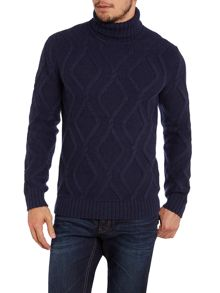 Lucas roll neck chain knit jumper