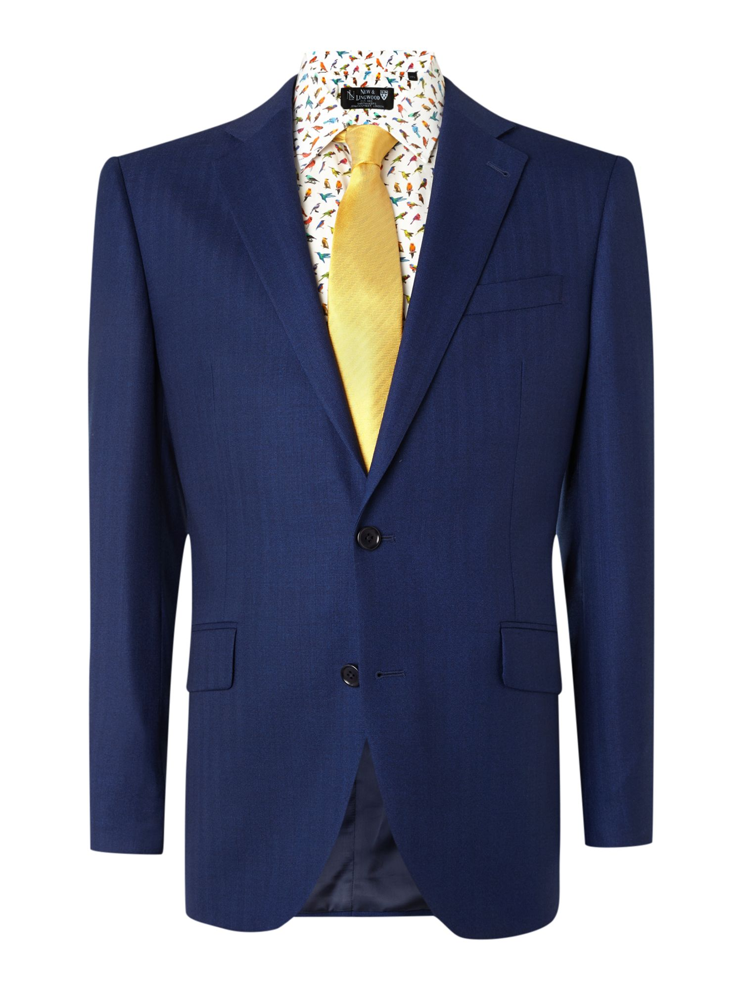 New & Lingwood Men's New & Lingwood Anderby herringbone tailored fit Jacket, Blue