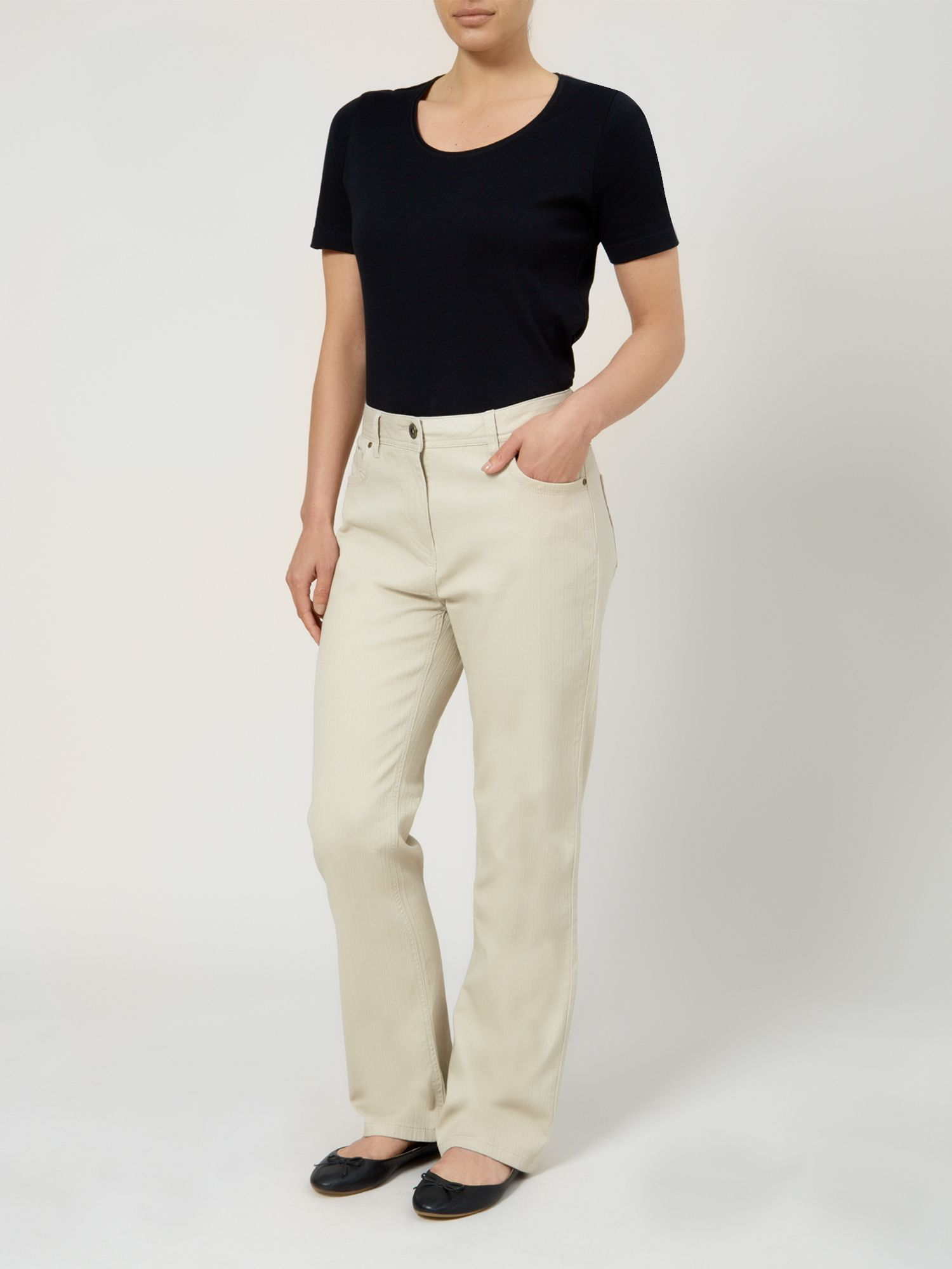Textured Twill Trouser Long