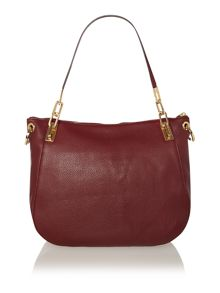 Brooke red scoop hobo bag