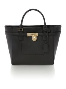 Hamilton black grab tote bag