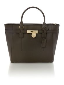 Hamilton brown grab tote bag