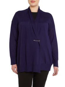Persona Plus Size Mentore wool mix drape cardigan