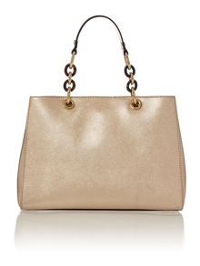 Cynthia gold tote bag