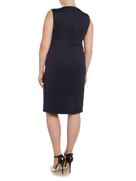 Persona Plus Size Dove shift dress with necklace detail