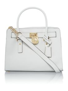 Hamilton white medium tote bag