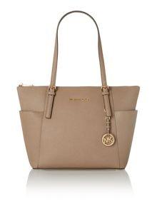 Jet Set Item sand zip top tote bag