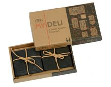My deli set of 4 slate square coasters