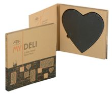 My deli set of 2 slate heart place mats
