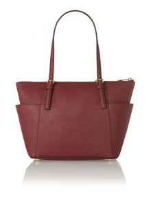 Jet Set Item red zip top tote