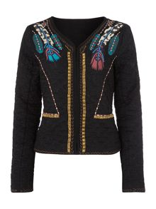 Linea Weekend Nomad feathered jacket