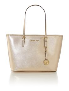 Michael Kors Jet set travel gold shoulder tote bag
