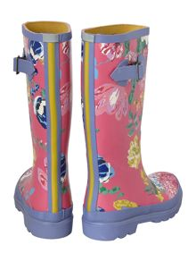 Girls floral print wellies