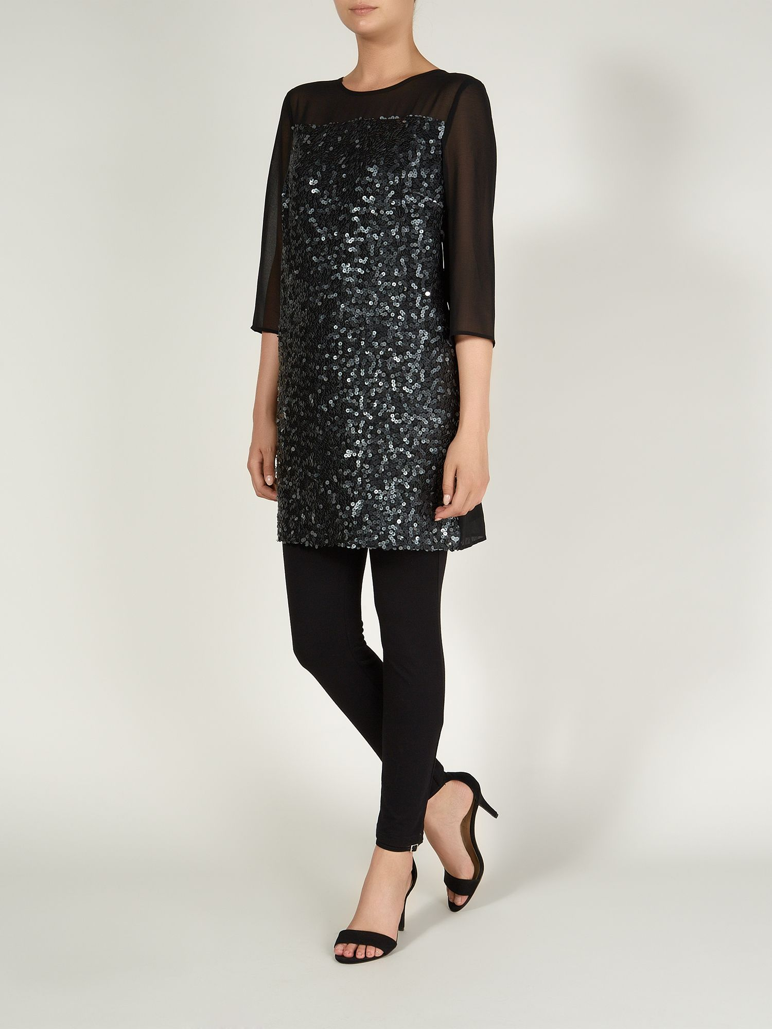 Leatherette Sequin Tunic