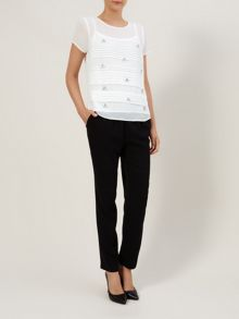 Jewelled Pintuck Blouse