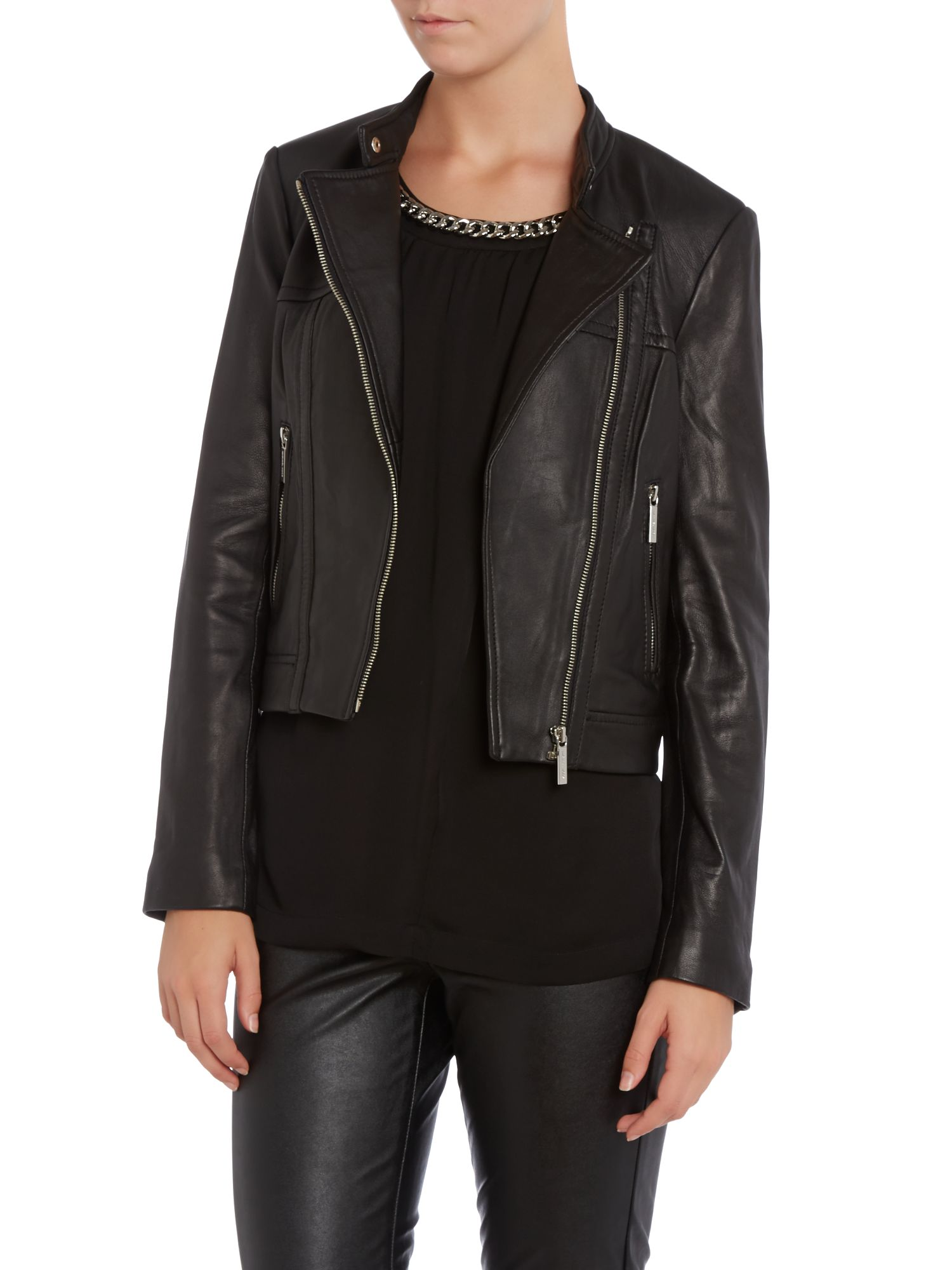 Long sleeved biker jacket