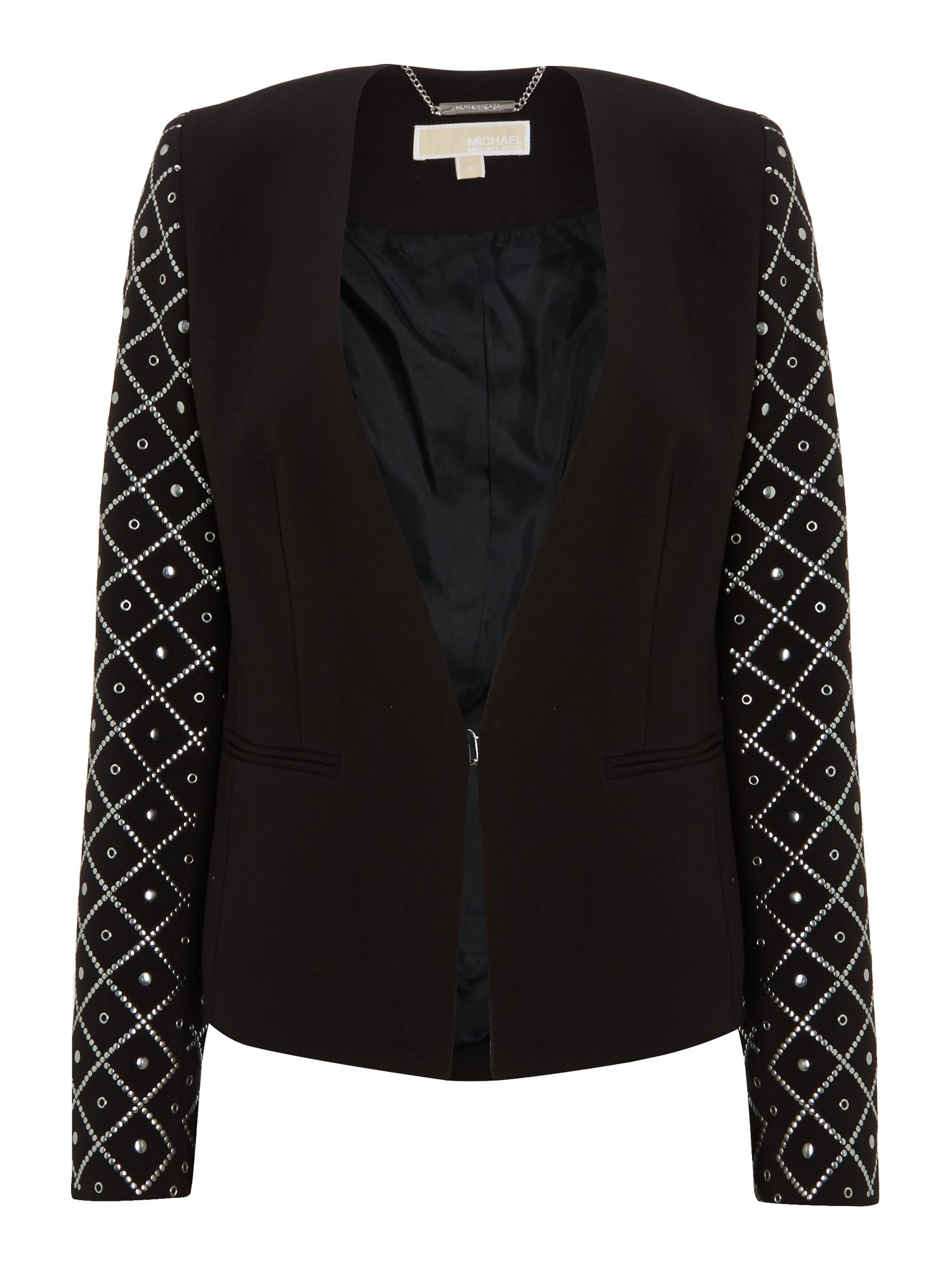 Long sleeved jacket with embroidered sleeves