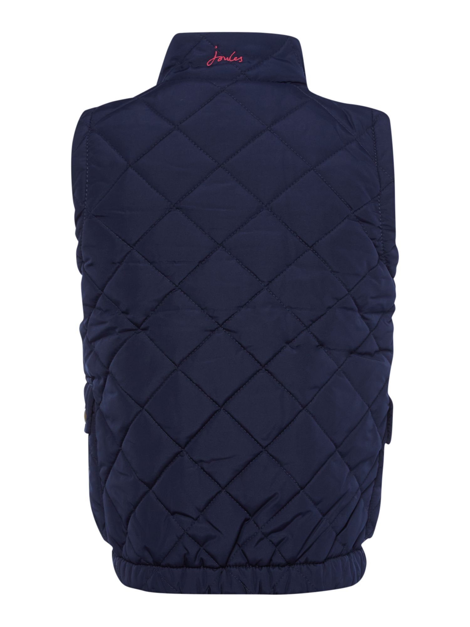 Girls quilted gilet with floral lining