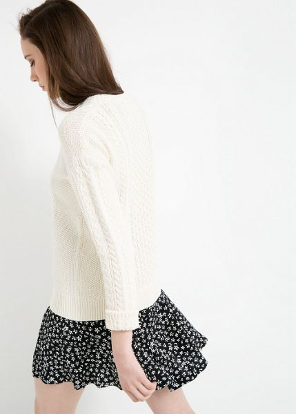 Mango Cable-knit cotton sweater