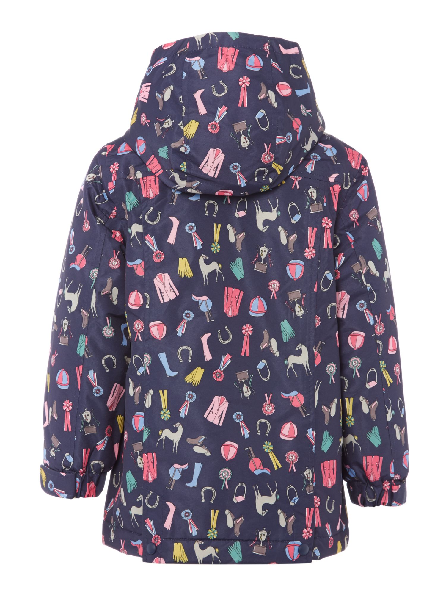 Girls waterproof horse print padded coat