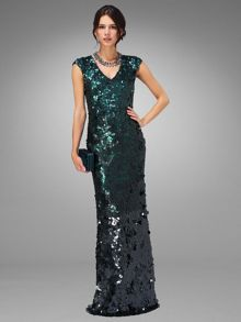 Galina sequin full length dress