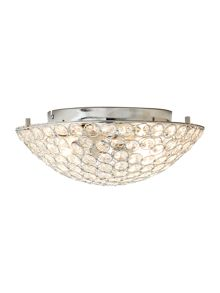 Indus 2 light flush ceiling light