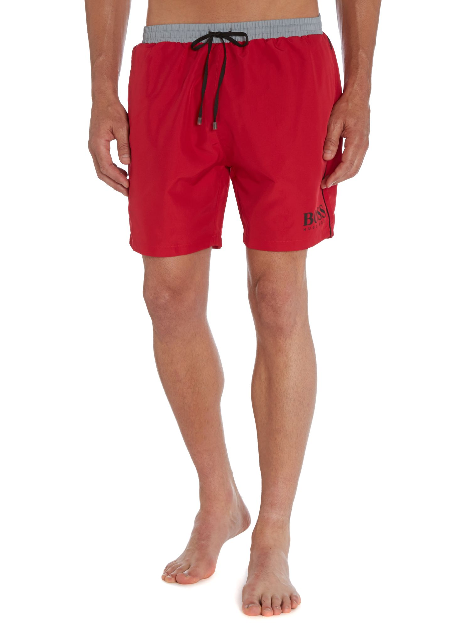 Starfish contrast logo swim short