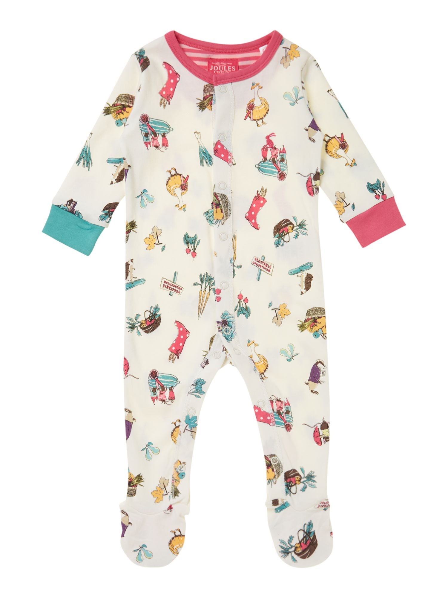 Baby girls farm print all in one