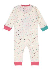 Baby girls bunny applique print all in one