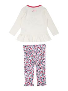 Baby girls mouse applique t-shirt & legging set