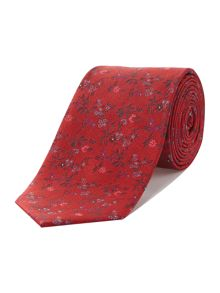 Caldwell small ditsy flower jacquard tie